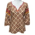 Lucky Brand Top Red Yellow