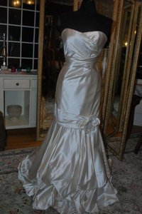 Adele Wechsler Ivory Silk Palesa Formal Wedding Dress Size 8 (M)