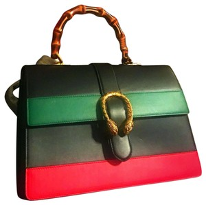Gucci Satchel in black, green, red
