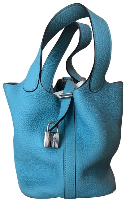Item - Picotin 18 Blue Leather Hobo Bag
