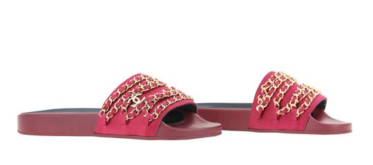 Chanel Mule Rubber Red Sandals Image 1
