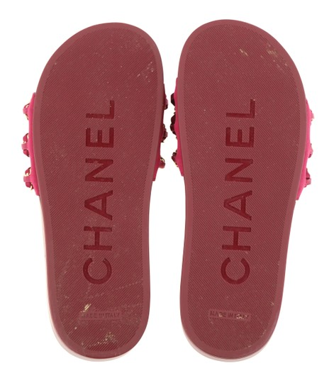 Chanel Mule Rubber Red Sandals Image 10