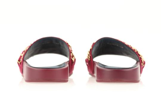 Chanel Mule Rubber Red Sandals Image 2