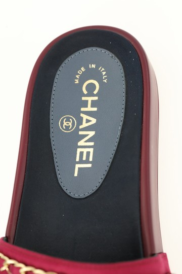 Chanel Mule Rubber Red Sandals Image 8