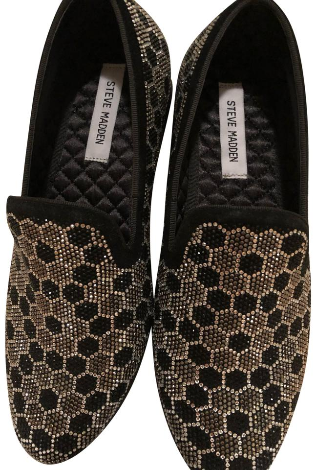 a17798601be Steve Madden Black and Grey Sparkle Loafers Sneakers Size US 9 Regular (M,  B)
