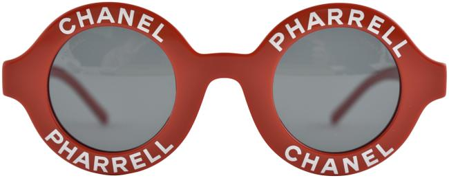 Chanel Red Pharrell 19d White Logo Cc Round Circle Rare Capsule Sunglasses Chanel Red Pharrell 19d White Logo Cc Round Circle Rare Capsule Sunglasses Image 1