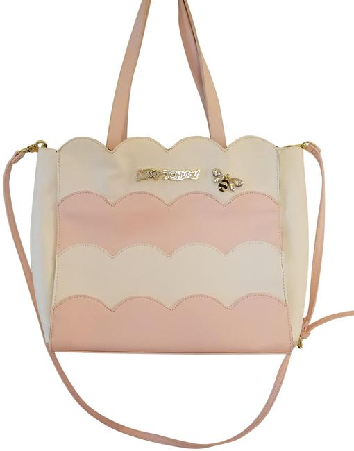 Item - Tote Pink and White Pvc Shoulder Bag
