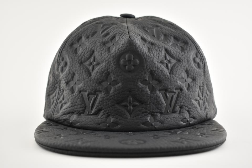 6a1c715538fd3 Louis Vuitton 1.0 Monogram Black Logo Leather Oversized Fitted Hat Cap One  Size Image 11. 123456789101112