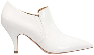 Tory Burch Georgina Patnet Patent Leather White Boots