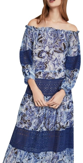 Item - Blue Ellie Paisley-print Gown Long Casual Maxi Dress Size 2 (XS)