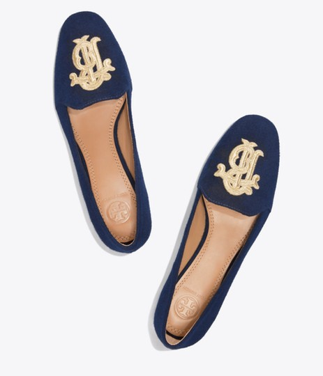 209b21fa0 Tory Burch Miller Wedge Sandals Dusty Cypress Perfect Navy Formal Image 0  ...