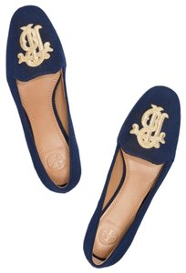Tory Burch Slippers Ballet Slide Velvet Perfect Navy Formal