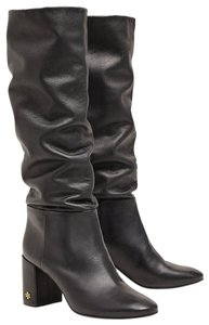 Tory Burch Leather Slouchy Perfect Black Boots