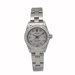 Rolex Rolex Lady Perpetual 76094 26MM Silver Diamond Dial With 0.90 CT