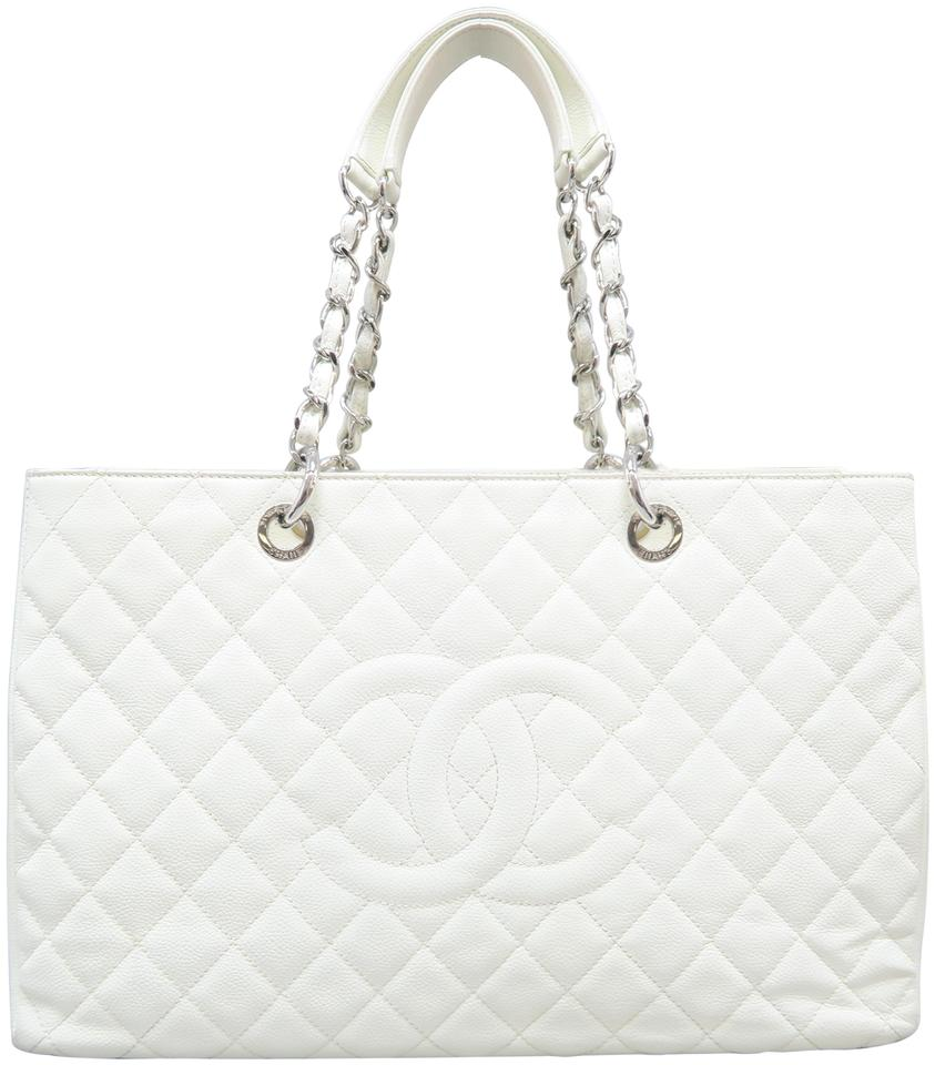 f3a49e59ee2c Chanel Shopping Tote XL Grand Shopping Tote(Gst) White Caivar ...