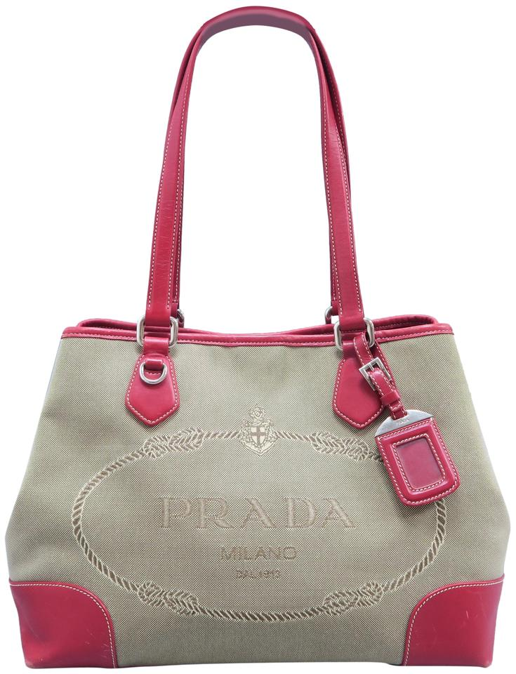 a7289a832a5e Prada Canapa Canvas Leather-trimmed Tote in brown Image 0 ...