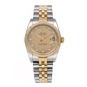 Rolex Rolex Lady-Datejust 68273 31MM Champagne Dial With Two Tone Bracelet