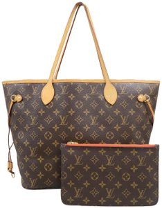9e35dbe70444 Louis Vuitton Neverfull Mm Monogram Brown Canvas Shoulder Bag - Tradesy