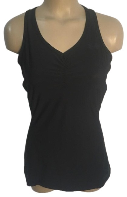 Item - Black Fitted Activewear Top Size 12 (L)