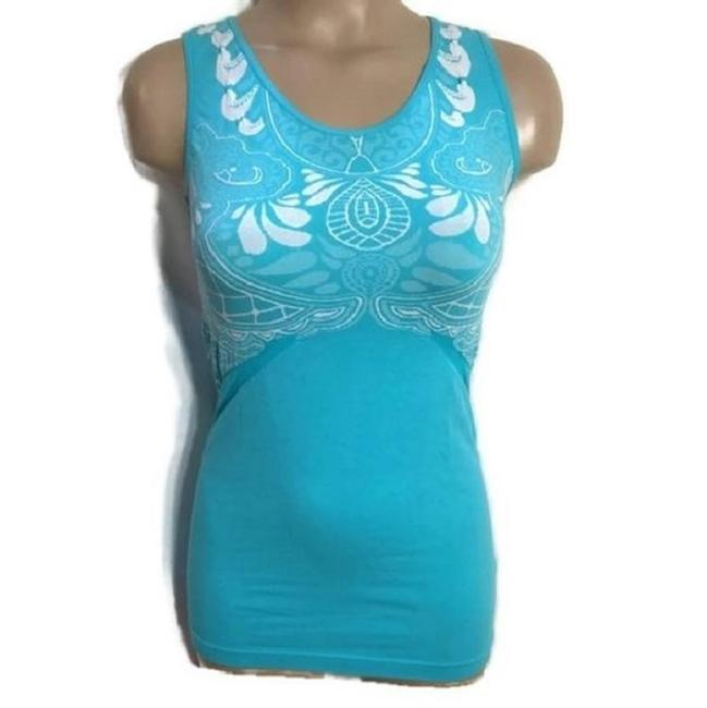 Item - Turquoise Print Activewear Top Size 10 (M)