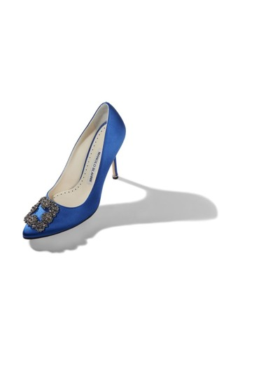 Manolo Blahnik Blue Pumps Image 2