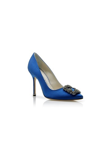 Manolo Blahnik Blue Pumps Image 4