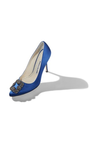 Manolo Blahnik Blue Pumps Image 5