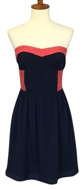 Preload https://img-static.tradesy.com/item/25221496/bar-iii-blur-pink-strapless-navy-and-short-casual-dress-size-2-xs-0-1-650-650.jpg