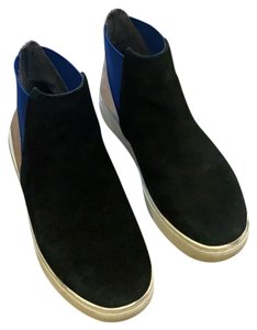 United Nude black suede with silver leather Athletic