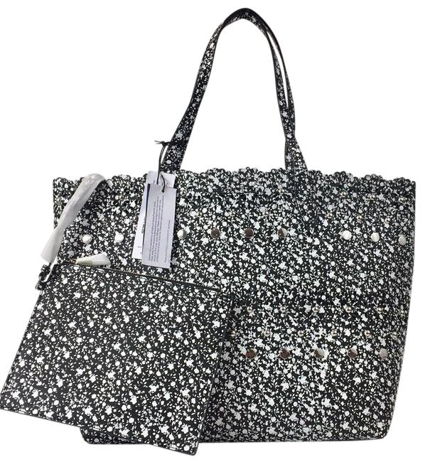 Item - Shoulder Bag New Structured Stud & Perforated Multicolor Leather Tote