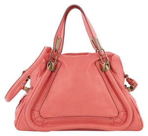 Chloé Leather Top Handle Satchel in pink