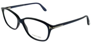 f5594150d0fac Tom Ford FT5316-092 Women s Blue Frame Clear Lens 54mm Genuine Eyeglasses  NWT