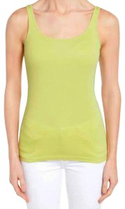 6fe7a049d4a97 Eileen Fisher Scoop Neck Baby Ribbed Organic Cotton Thin Strap Long Line Top  Yellow