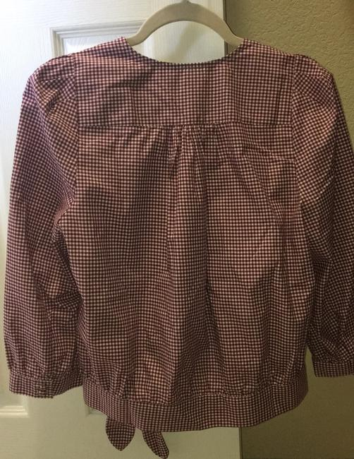 Madewell Top maroon/white check Image 2