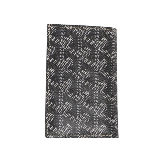 Goyard NWT Saint Pierre Gray Chevron Card Holder Wallet Image 3