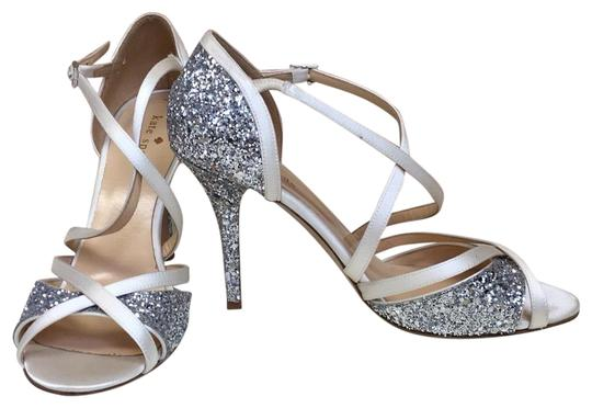 a5c5d2b51be Kate Spade Silver Strappy Champagne Cream Bridal Heels Formal Shoes ...