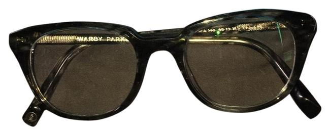 Item - Crystal with Charcoal Striations Haskell Eyeglass Frame
