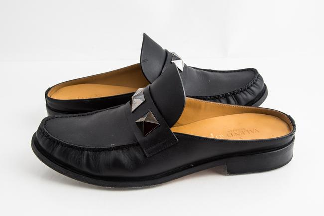 Item - Black Garavani Macro Stud Loafers Shoes