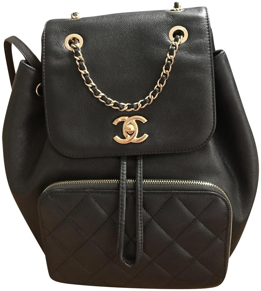 56a961439fe0 Chanel Business Affinity Black Pebbled Leather Backpack - Tradesy