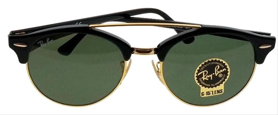 6bc520acab993 Ray-Ban Black Rb4346-901-51 Round Men s Frame Green Lens Sunglasses ...