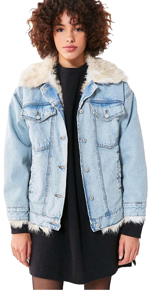 discount coupon provide large selection of numerousinvariety BDG Denim Faux Fur Lined Trucker Jacket Size 2 (XS)