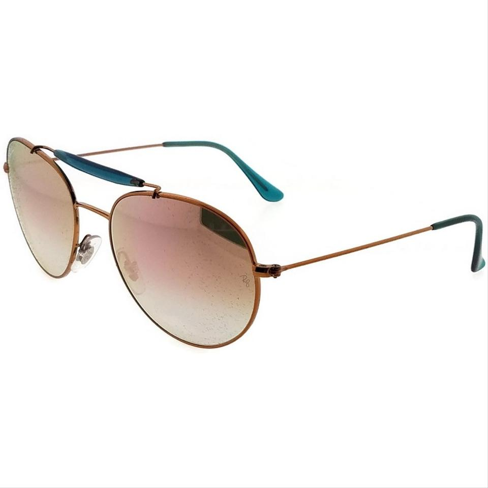 201e54be76b9a Ray-Ban RB3540-198-7Y-56 Aviator Unisex Bronze Frame Copper Lens. 123456