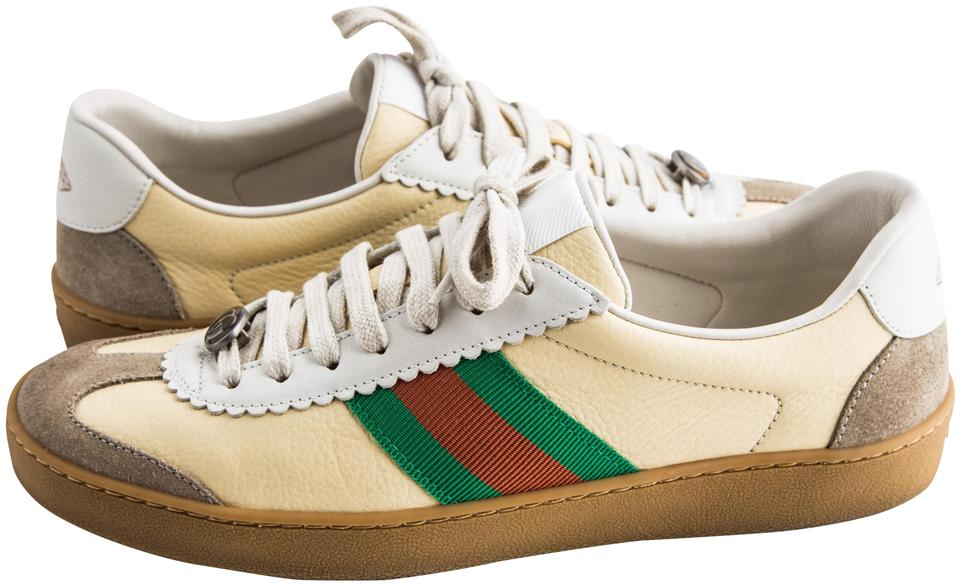 9a0efa15167 Gucci Brown Leather and Suede Web Sneaker Sneakers Size US 8.5 ...