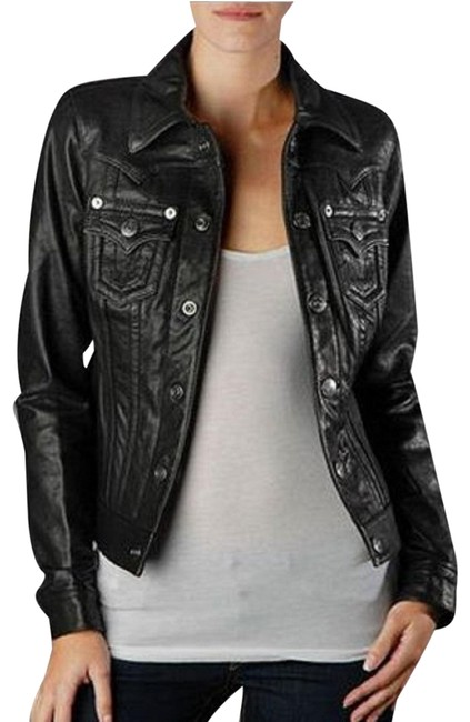 Item - Black Leather Women's Jimmy Jacket Size 12 (L)