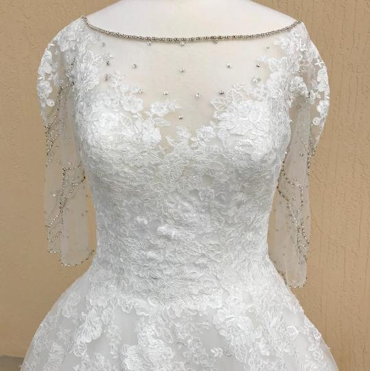 Allure Modest Wedding Gowns: Allure Bridals Ivory Lace And Tulle 3006 Modest Wedding