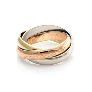 Cartier Trinity 18k Gold Classic Rolling Band Ring Size EU 50-US 5 w/Paper