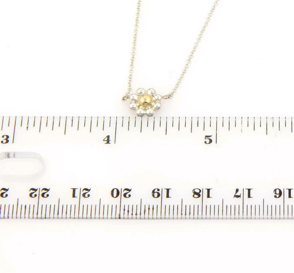 317f59fbc Tiffany & Co. Picasso Sterling Silver 18k Gold Daisy Flower Pendant & Chain  Image 4. 12345