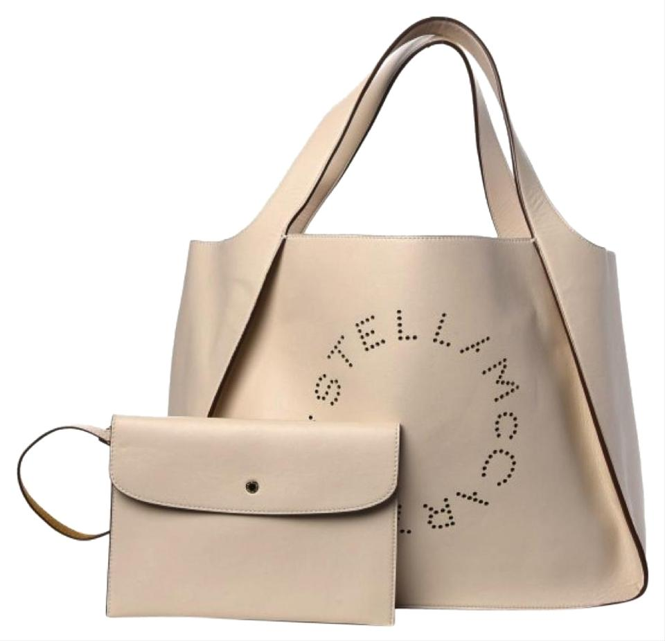 86364d1fcdf Stella McCartney Bag Alter East-west Perforated Beige Faux-leather Tote