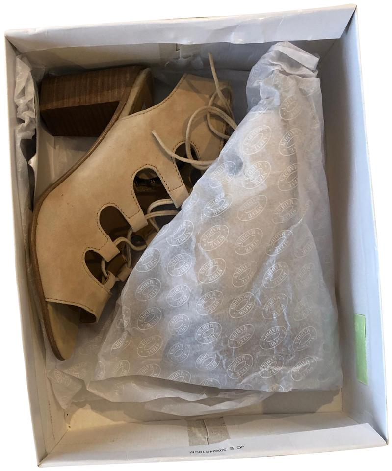 6440a83a9f3 Steve Madden Tan Box New In Nulinda Suede Sandals Size US 7.5 Regular (M,  B) 39% off retail