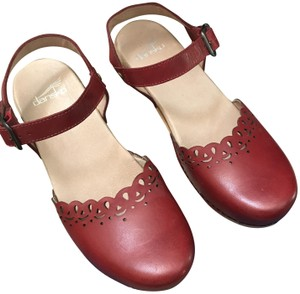 Dansko Red Mules